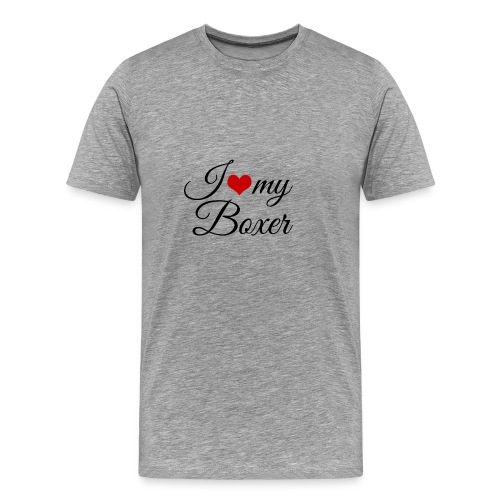 I Love My Boxer - Men's Premium T-Shirt