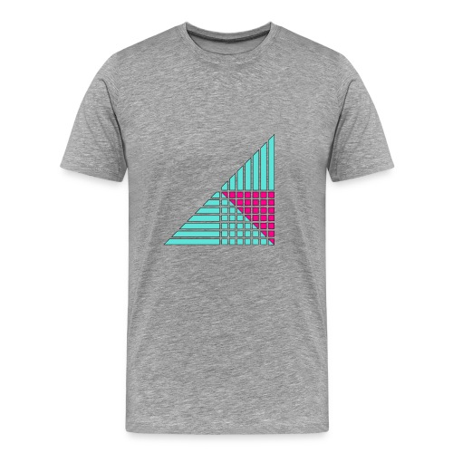 schematic lines and squares - Men's Premium T-Shirt