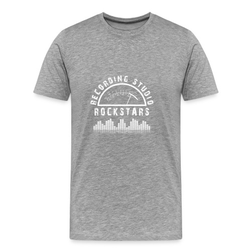 Recording Studio Rockstars - White Logo - Men's Premium T-Shirt