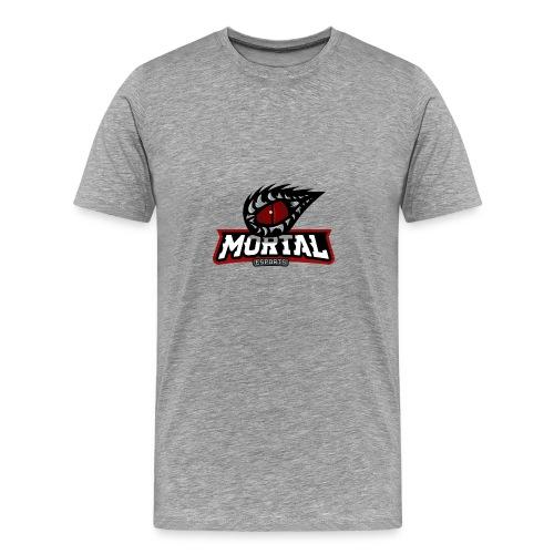 Mortal Esports Full Logo Design (Black) - Men's Premium T-Shirt