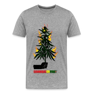 Cannabis On Fire T-shirts - Men's Premium T-Shirt
