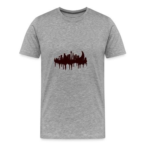 Seattle Moon and Skyline - Men's Premium T-Shirt