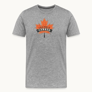 I WAS MADE IN CANADA -Linen -Carolyn Sandstrom - Men's Premium T-Shirt