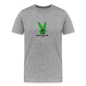 Marijuana Leaf Peace - Men's Premium T-Shirt