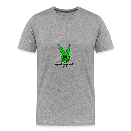 Marijuana Leaf Peace - Men's Premium T-Shirt