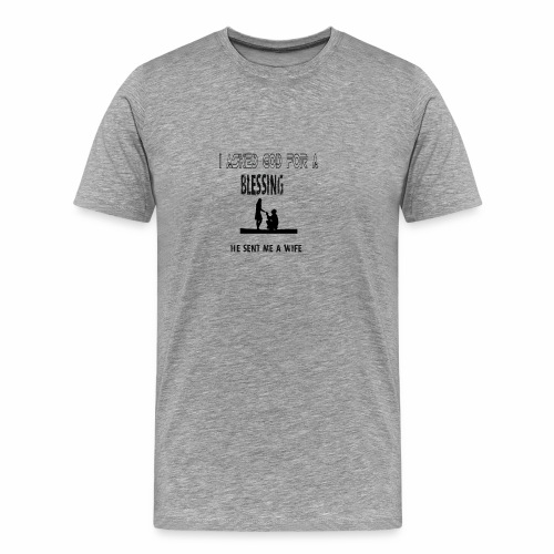 iasked god2 - Men's Premium T-Shirt