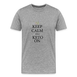 Keto keep calm - Men's Premium T-Shirt