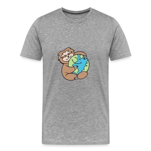 Worldy Sloth - Men's Premium T-Shirt