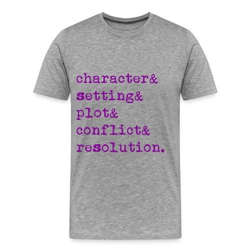 5 Elements of a Story - Men's Premium T-Shirt