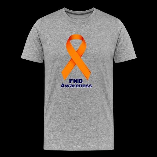 FND Awareness Ribbon 2 - Men's Premium T-Shirt