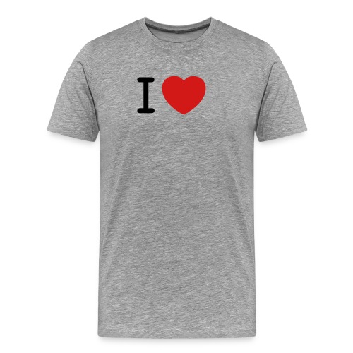 I Love (what you love in here) Insert your text. - Men's Premium T-Shirt