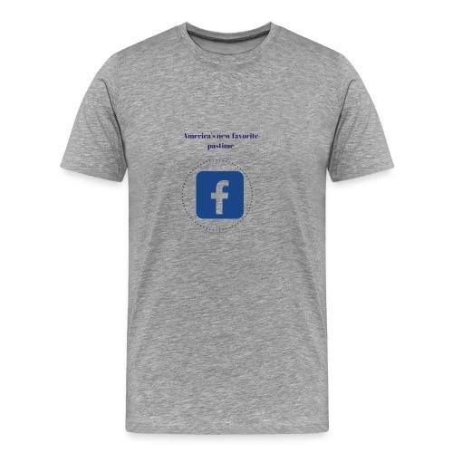 America's favorite pastime, facebook - Men's Premium T-Shirt