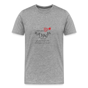 Fathers Day Gift - I Love You Dad - Men's Premium T-Shirt