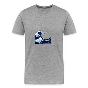 Wave Tsunami Logo - Men's Premium T-Shirt