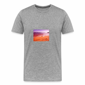 on beach love yourself wallpapers 1024x768 - Men's Premium T-Shirt