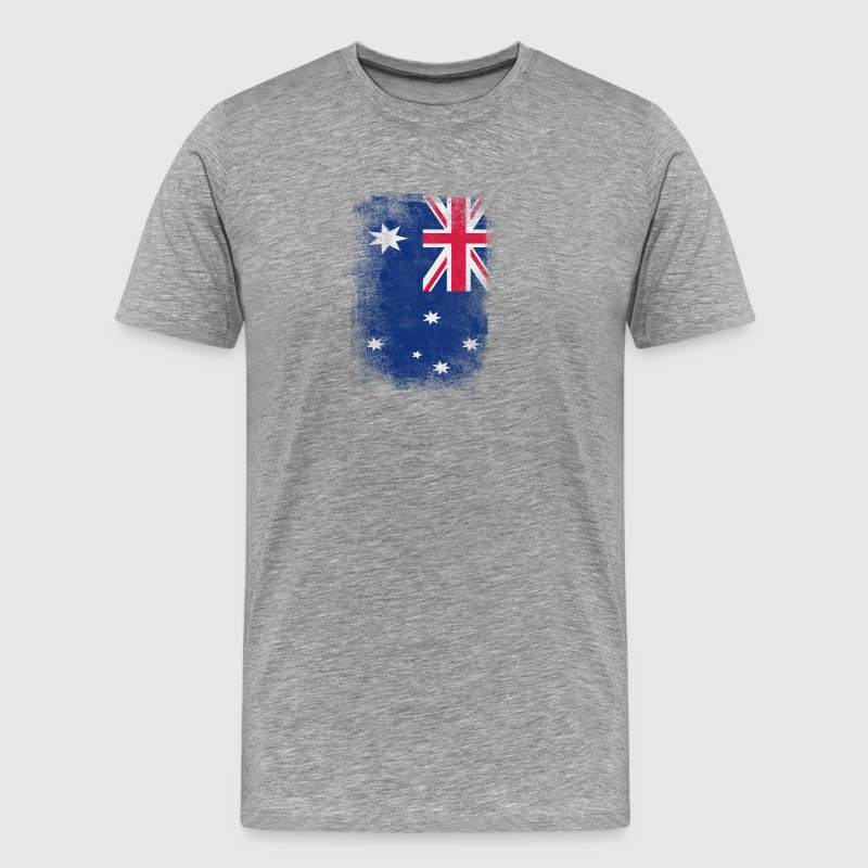 Australia Flag Proud Australian Vintage Distressed - Men's Premium T-Shirt