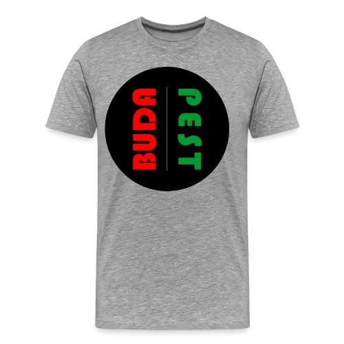 Budapest, Hungary, minimalist design - Men's Premium T-Shirt