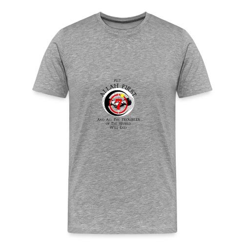 Put Allah First Phone Cases - Men's Premium T-Shirt