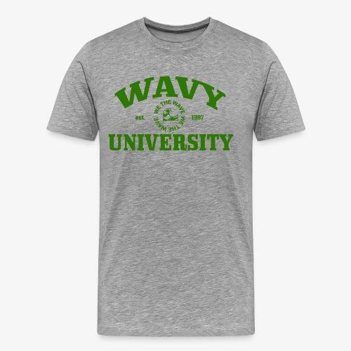 Wavy U (Green) - Men's Premium T-Shirt