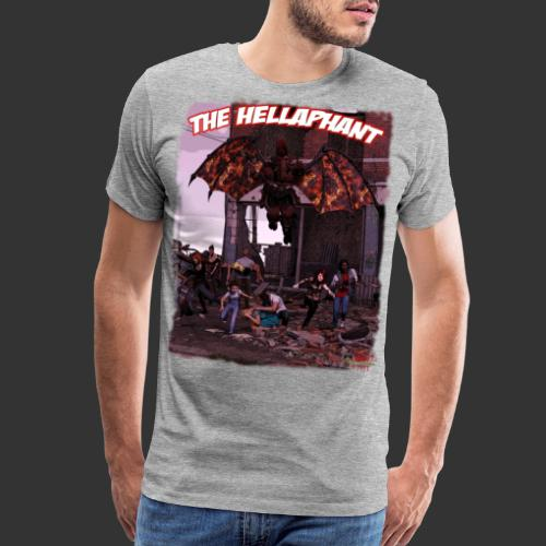 The Hellaphant Full Scene - Men's Premium T-Shirt