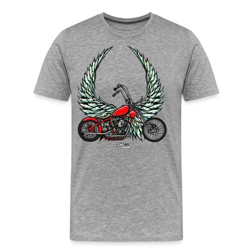 Bobber with wings - Men's Premium T-Shirt