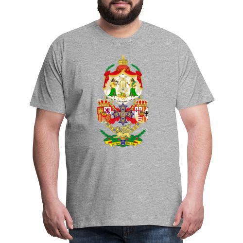 Ethiopian Empire Coat of arms Crest Crown Council - Men's Premium T-Shirt