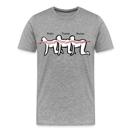 Putin Trump Nunes Flow Chart - Men's Premium T-Shirt