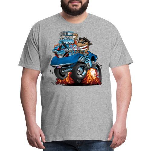 Classic '69 American Sports Car Cartoon - Men's Premium T-Shirt