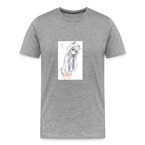 cute anime cat girl - Men's Premium T-Shirt