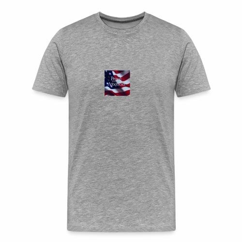 770764ed8cfed391ab7ad85ff8b8f2bb american flag am - Men's Premium T-Shirt