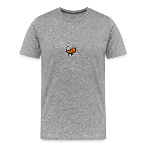 basketball championship banner ball fire icon text - Men's Premium T-Shirt