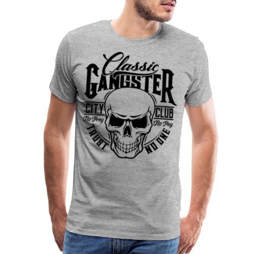 gangster classic skull - Men's Premium T-Shirt