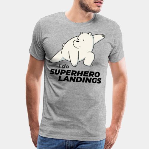 superhero landing hero - Men's Premium T-Shirt