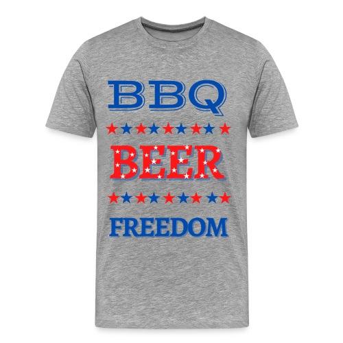 BBQ BEER FREEDOM - Men's Premium T-Shirt