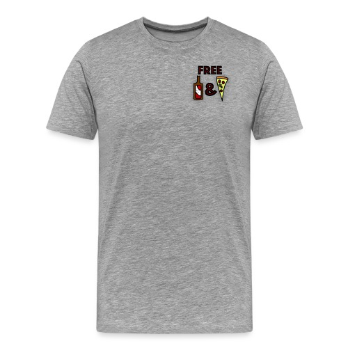 Free Beer and Pizza band logo - Men's Premium T-Shirt
