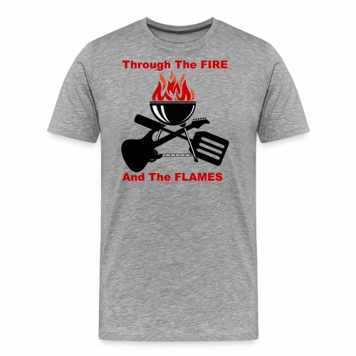Fire and Flames BBQ - Men's Premium T-Shirt