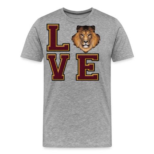 Lion Love Maroon Box - Men's Premium T-Shirt