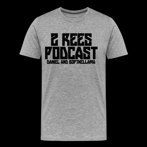 2 REES Podcast Logo (Black) - Men's Premium T-Shirt