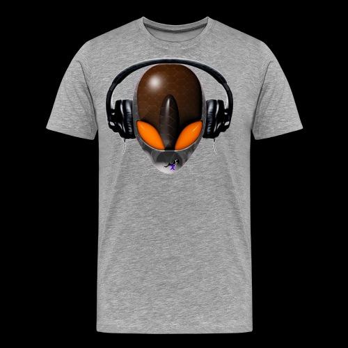 Reptoid Orange Alien DJ Music Lover - Men's Premium T-Shirt