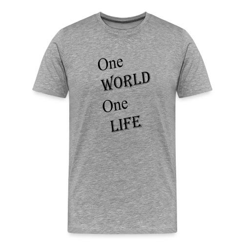 one world - Men's Premium T-Shirt