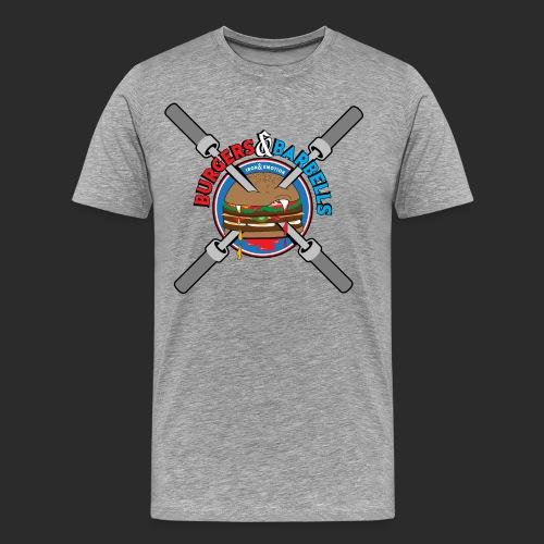 IRON EMOTION BURGERS BARBELLS - Men's Premium T-Shirt