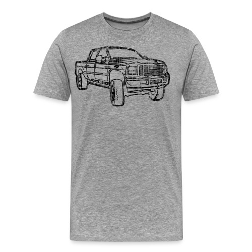 Ford Truck F250 Distressed - Men's Premium T-Shirt