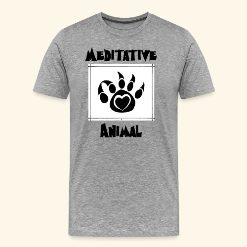 Paw Logo with Text and transparency - Men's Premium T-Shirt