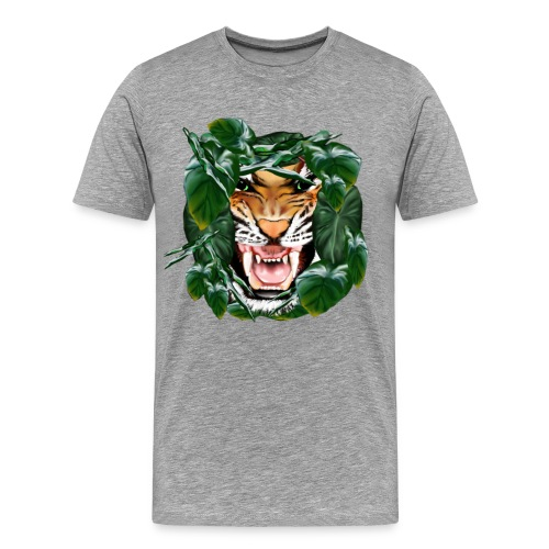 Tiger thru the leaves - Men's Premium T-Shirt