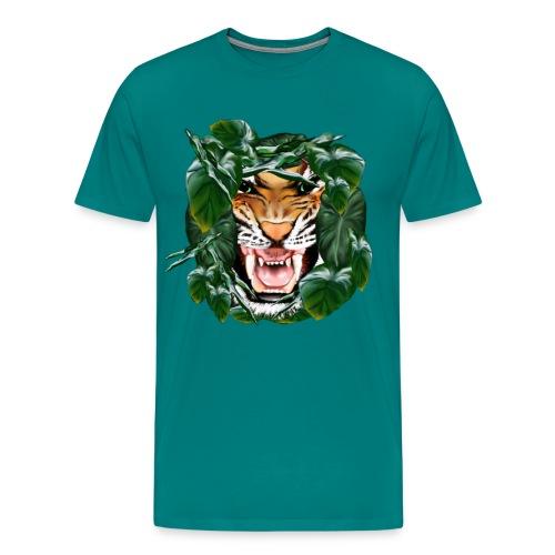 Tiger thru the leaves - Men's Premium T-Shirt