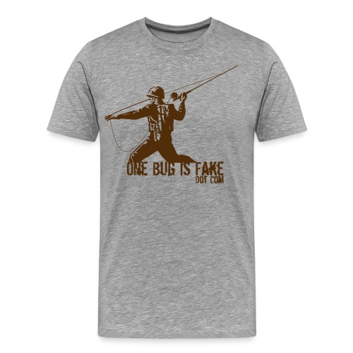 OneBugIsFake Combat Angler - Men's Premium T-Shirt