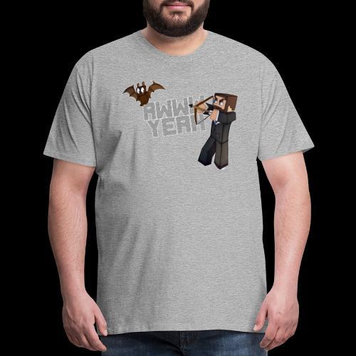 Awww Yeah (Bat) - Men's Premium T-Shirt