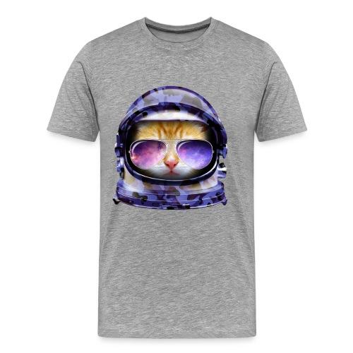Kitty in Space Blue Camo - Men's Premium T-Shirt