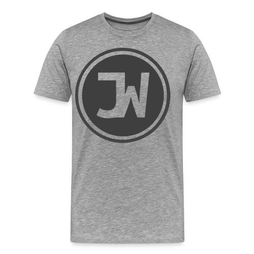 Grey Johannes With Logo - Men's Premium T-Shirt