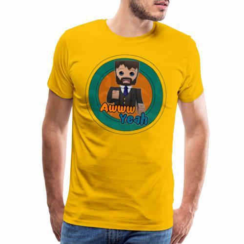 AwwwYeah/Circle - Men's Premium T-Shirt